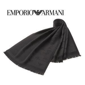 エンポリオ・アルマーニ ウールマフラー(ブラック×ブラック) 17秋冬モデル EA-335 allzoo