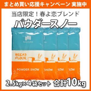 小麦粉 強力粉 パウダースノーBF (オリジナル春よ恋ストレート) 2kg×5袋セット 北海道産 送料無料