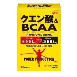 グリコパワープロダクションクエン酸&BCAA ハイポトニック粉末ドリンク グレープフルーツ風味 1袋 (12.4g) 10袋|alnet-shop