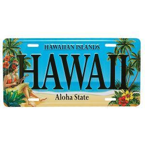 ハワイアン雑貨 インテリア ライセンスプレート ナンバー Hawaii フラ ハワイ 南国 リゾート