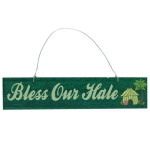 【ハワイ雑貨】アイランドスタイル サインボード[Bless our hale]