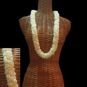ハワイアンレイ ゴージャスなロープピカケ オフホワイト