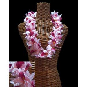 ハワイアンレイ バンダオーキッドダブルレイ ピンク