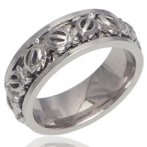 ハワイアンジュエリー リング 指輪 シルバー925 ホヌ スピンリング ロジウムコーティング aloalo