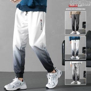 ジャージパンツ スウェットパンツ メンズ グラデーション ロゴ おしゃれ スエット ロングパンツ トレーニングパンツ ジム カジュアル|aloha0118