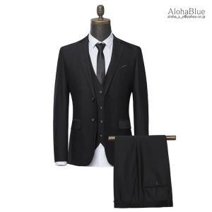 ブラックフォーマル スーツ メンズ ビジネススーツ フォーマルスーツ スリーピース 3ピーススーツ 礼服 セットアップ 春夏 喪服 法事|aloha0118