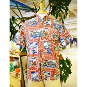 アロハシャツ 半袖 レインスプーナー Hawaiian Christmas 2020 ハワイアン クリスマス Tibetan Red レッド alohahiyori