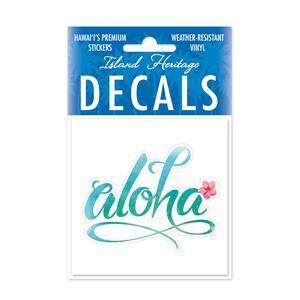 DECAL Hawaii ハワイ ステッカー 防水 車 スーツケース Aloha Floral|alohahiyori