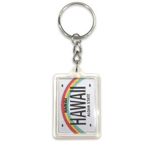 ハワイ キーホルダー キーチェーン ハワイアン 雑貨 アイランドヘリテージ Key Chain Holder ハワイナンバープレート|alohahiyori