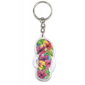 ハワイ キーホルダー キーチェーン ハワイアン 雑貨 アイランドヘリテージ Key Chain Holder ビーチサンダル ビーサン|alohahiyori