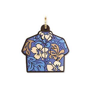 ハワイ キーカバー Hawaii Key Cover Aloha Shirt Blue アロハシャツ ブルー|alohahiyori