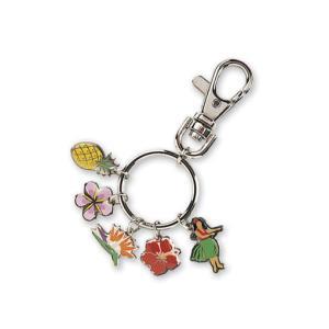 ハワイ キーホルダー キーチェーン ハワイアン 雑貨 アイランドヘリテージ Key Chain Charms Floral フローラル|alohahiyori