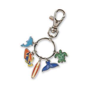 ハワイ キーホルダー キーチェーン ハワイアン 雑貨 アイランドヘリテージ Key Chain Charms Marine マリーン|alohahiyori