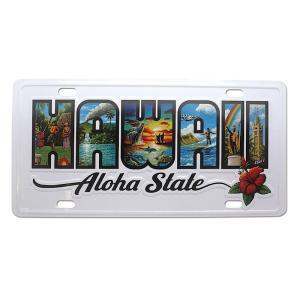 ハワイ ナンバープレート ライセンスプレート ハワイアン 雑貨 壁掛け Hawaii Aloha State Eddy Y|alohahiyori