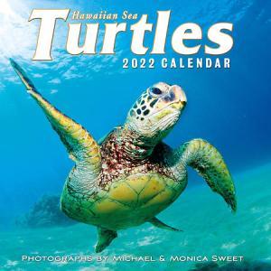2022年版 ハワイ デラックスカレンダー 12ヶ月 壁掛けカレンダー Hawaiian Sea Turtles ホヌ 亀|alohahiyori