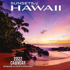2022年版 ハワイ デラックスカレンダー 12ヶ月 壁掛けカレンダー SUNSETS of HAWAII サンセット オブ ハワイ|alohahiyori