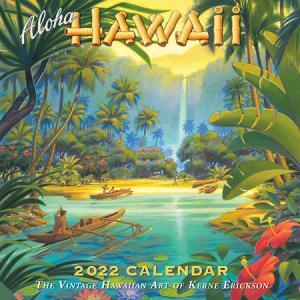 2022年版 ハワイ デラックスカレンダー 12ヶ月 壁掛けカレンダー Aloha HAWAII Kerne Erickson|alohahiyori