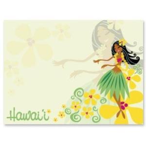 ハワイ ポストイット 付箋 貼れる メモ ハワイアン 雑貨 アイランドヘリテージ Hawaii Aloha Stick Notes Lovely Hula Hands フラ フラダンス alohahiyori