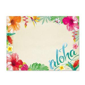ハワイ ポストイット 付箋 貼れる メモ ハワイアン 雑貨 アイランドヘリテージ Hawaii Aloha Stick Notes ALOHA FLORAL アロハフローラル alohahiyori