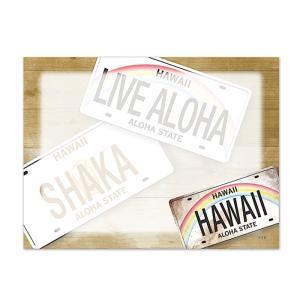ハワイ ポストイット 付箋 貼れる メモ ハワイアン 雑貨 アイランドヘリテージ Hawaii Aloha Stick Notes LICENSE PLATES ライセンスプレート alohahiyori