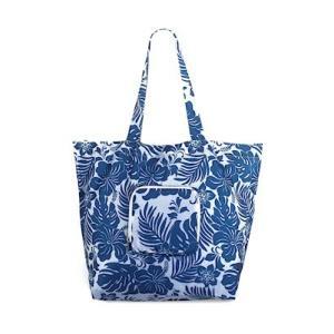 エコ フレンドリー トート デラックス バッグ  eco friendry tote bag deluxe Hibiscus Floral Blue alohahiyori