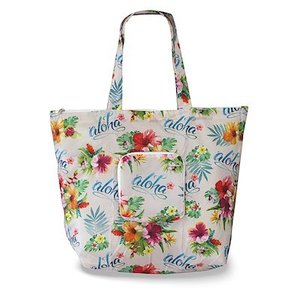 エコ フレンドリー トート デラックス バッグ  eco friendry tote bag deluxe Aloha Floral alohahiyori