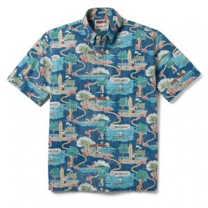 アロハシャツ 半袖 レインスプーナー Surfin Snoopy サーフィン スヌーピー BLUE ブルー alohahiyori