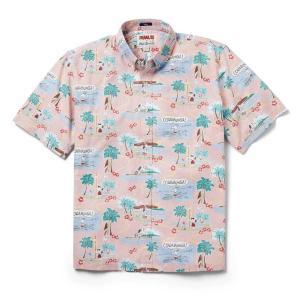 アロハシャツ 半袖 レインスプーナー Surfin Snoopy サーフィン スヌーピー PINK ピンク alohahiyori