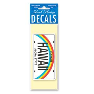 DECAL Hawaii ハワイ ステッカー 防水 車 スーツケース Hawaii License Plate ナンバープレート ライセンスプレート|alohahiyori