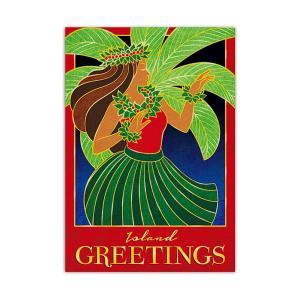 ハワイ クリスマスカード グリーティングカード メッセージカード ハワイアンカード Hula Kalikimaka alohahiyori