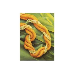 ハワイ グリーティングカード メッセージカード ハワイアンカード Ilima & Pikake On Ti Leaf alohahiyori