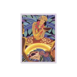 ハワイ グリーティングカード メッセージカード ハワイアンカード Luau alohahiyori
