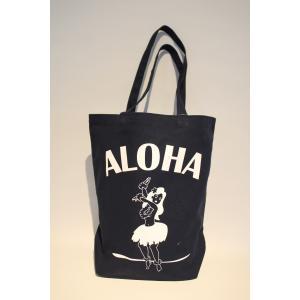 アロハヒヨリ オリジナル トートバッグ フラガール ネイビー alohahiyori origina ltote bag Navy hula girl alohahiyori