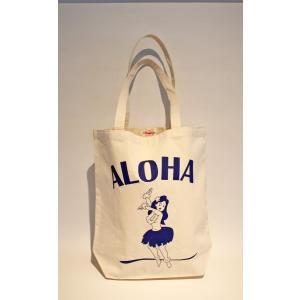 アロハヒヨリ オリジナル トートバッグ フラガール alohahiyori origina ltote bag white hula girl alohahiyori
