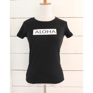 alohahiyori オリジナルTシャツ(レディース)ALOHA MARK black/ブラック|alohahiyori