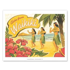 ハワイ ジークレー アート Aloha from Waikiki Hawaii Hula Dancers alohahiyori