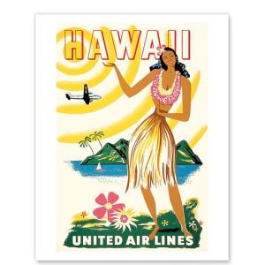ハワイ ジークレー アート United Air Lines: Hawaii Only Hours Away alohahiyori