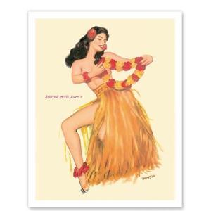 ハワイ ジークレー アート Swing and Sway Hawaiian Hula Dancer March 1953 alohahiyori