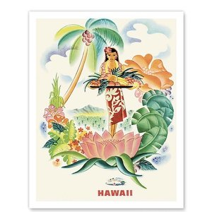 ハワイ ジークレー アート Matson Lines to Hawaii Tropical Abundance alohahiyori