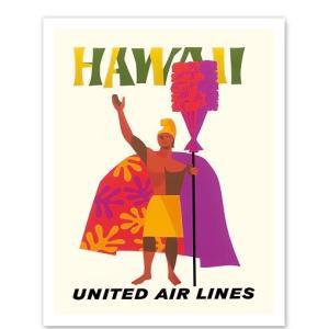 ハワイ ジークレー アート Hawaii United Airlines King Kamehameha alohahiyori