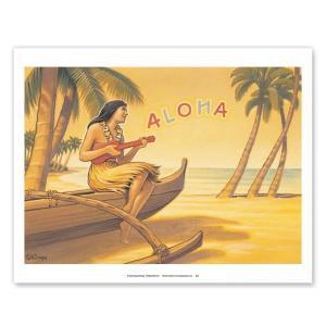ハワイ ジークレー アート Aloha Serenade Hawaii Ukulele Hula Girl alohahiyori