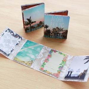 ハワイ手帳  ブック型 付箋セット ハワイの付箋|alohahiyori
