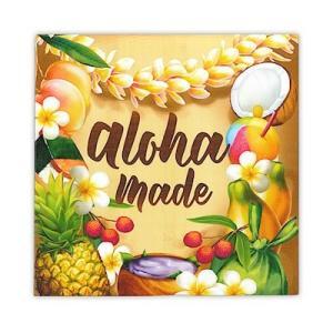 キャンバス アート Aloha made Design in Hawaii 20x20cm alohahiyori