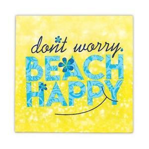 キャンバス アート BEACH HAPPY Design in Hawaii 20x20cm alohahiyori