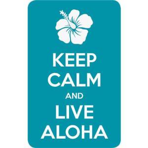 DECAL Hawaii ハワイ ステッカー Keep Calm and Live Aloha|alohahiyori