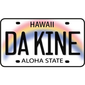 DECAL Hawaii ハワイ ステッカー Da Kine License Plate|alohahiyori