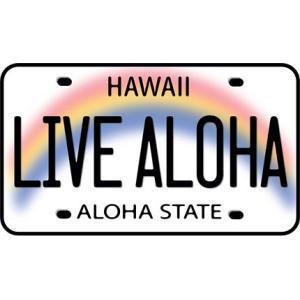 DECAL Hawaii ハワイ ステッカー Live Aloha License Plate|alohahiyori