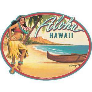 DECAL Hawaii ハワイ ステッカー 防水 車 スーツケース Aloha Waikiki|alohahiyori