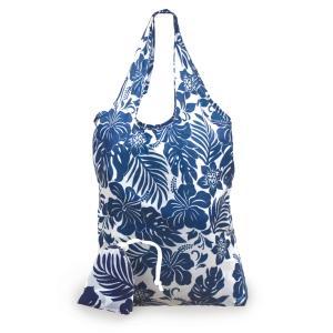 エコ フレンドリー トートバッグ ハイビスカス フラワー ブルー eco friendry tote bag hibisucus flower blue alohahiyori