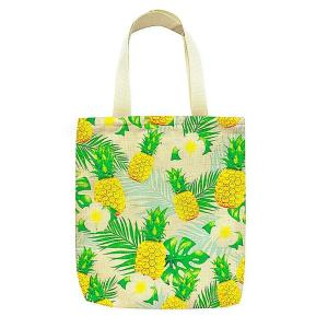 エコ ジッパー付 トートバッグ パイナップル eco tote bag pineapple alohahiyori